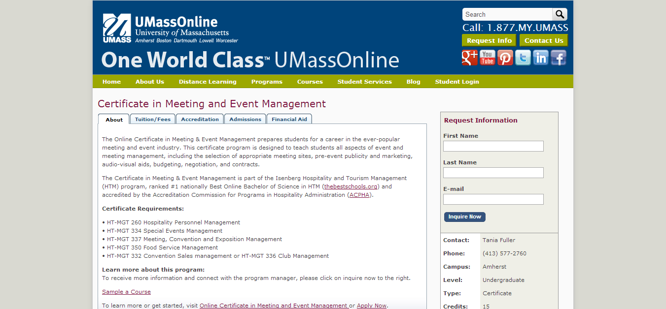 Top 30 event management degree programs iconicdisplays certificate in meeting and event management umass xflitez Images