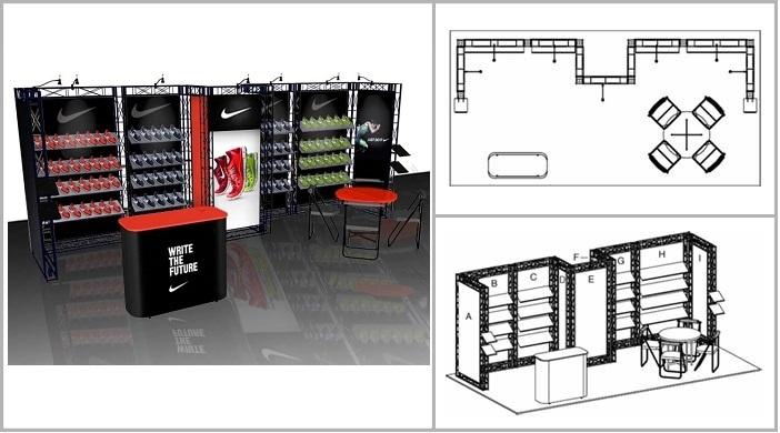 Exhibitor Booth Layout : Iconic monterey truss exhibit layout